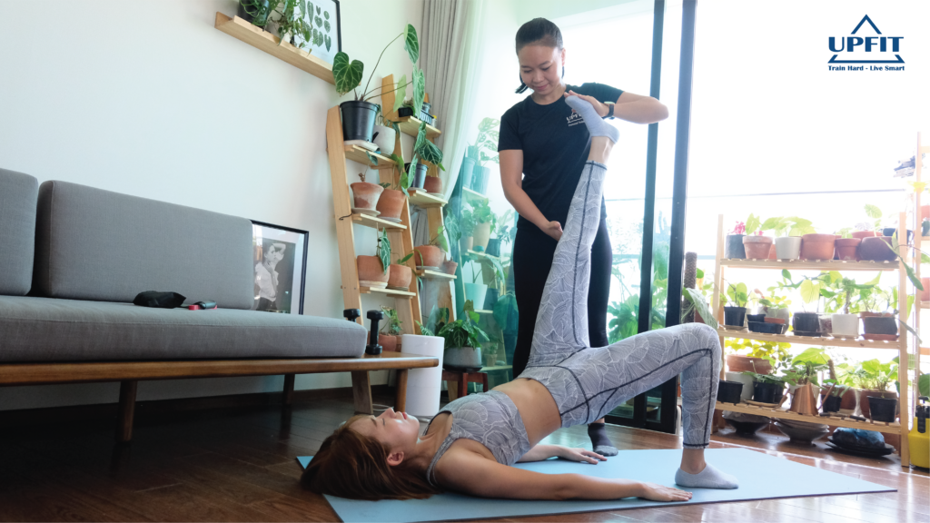 at-home workout with Upfit coach